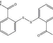 二硫-2,2'-双(N-甲基苯甲酰胺) CAS 2527-58-4 结构式